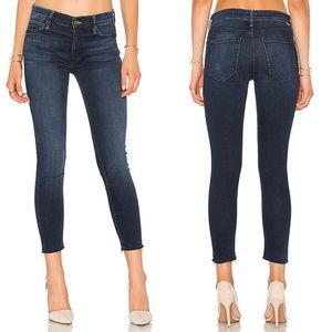 Mother Double Fray Charmer Crop Skinny Jeans